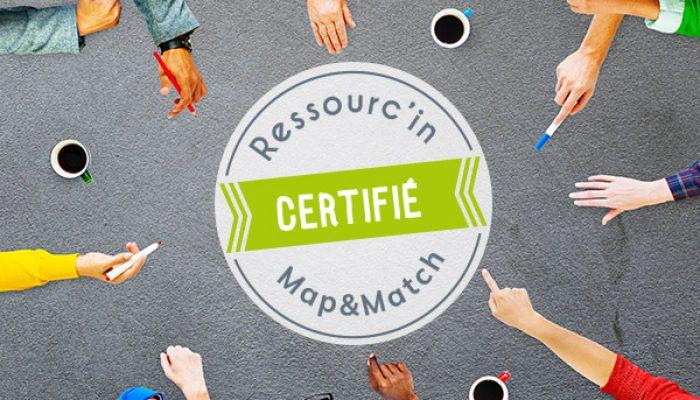 Ressourc'in est certifié Map&Match : une approche novatrice